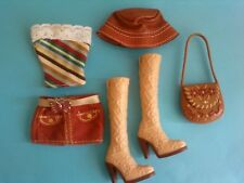 My Scene Barbie Doll Clothes Outfit Skirt Top Purse Hat Boots Lot