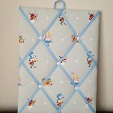 Hand Made Fabric Notice Board In Sophie Allport Alice In Wonderland Fabric