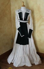 VTG Gunne Sax 70s Prairie Romantic Gypsy Lace Velvet Prairie Wedding Dress 9 S