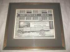 "19.5"" SEATTLE 1916 CARNATION MILK FRAMED PRINT SIGNED BY RAY WEAVER 7 OF 125"