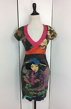 Desigual Women's Medium Geisha Print Cotton Knit Shift Dress Anthropologie
