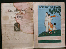 2 VINTAGE METROPOLITAN LIFE BOOKLETS, HOW TO LIVE LONG, FISHER,LIFE EXTENSION IN