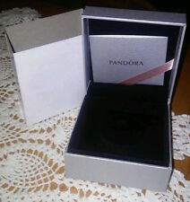 "PANDORA JEWELRY BRACELET/EARRINGS/NECKLACE/RING ""GIFT BOX ONLY"" W/SLEEVE & CARD"