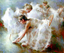 CHOP13 beautiful 100% hand-painted oil painting ballet girl wall art on canvas