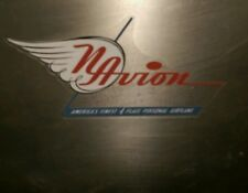 """Vintage style Navion aircraft airplane decal, reproduced from an original 5"""""""