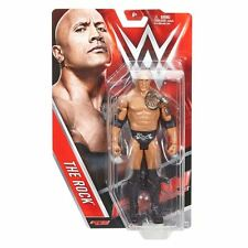 WWE BASIC 65 THE ROCK OFFICIAL RAW SERIES WRESTLING MATTEL ACTION FIGURE TNA WWF