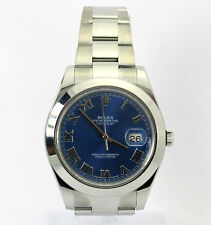 2014 Rolex Datejust 2 watch #116300 stainless steel blue face 41 MM + box papers