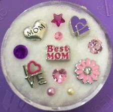 Floating Charm Set~*~Best MOM Mother's Day LOVE ~*~Living Memory Lockets