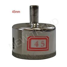 "1 PC Diamond coated tool drill bit hole saw for glass marble 1-3/4""(45mm)"