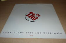 THE THE - ARMAGEDDON DAYS - ETCHED DISC - EMU E10!!!!RARE VINYL MAXI - 12 INCHES