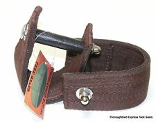 "D.A. Brand 2 1/2"" Dark Brown Comfort Ride Stirrup Mounts/Turners Horse Tack"