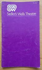 Marcel Marceau programme Sadler's Wells Theatre ~1970s Pierre Verry