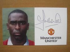 1996-98 Andy Cole Signed Man Utd Club Card B (2862)