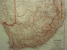 1907 DATED MAP ~ SOUTH AFRICA CAPE COLONY TRANSVAAL NATAL