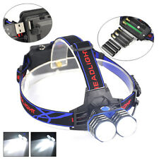 New 5000Lumen 2x XML T6 LED Hunting Linterna Headlight Head Lamp Torches AAA AA