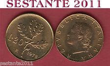A68  ITALY  ITALIA REPUBBLICA ITALIANA   20 LIRE 1978   KM 97.2  FDC / UNC