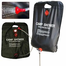 20L SOLAR POWER SHOWER CAMPING WATER PORTABLE SUN  HEATED OUTDOORS RY507