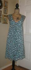 DVF DIANE VON FURSTENBERG Silk on Silk Blue Animal Print Sheer Dress ~ SZ 8