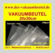 100 St. Vakuumbeutel Goffriert 20x30 cm mit Wabenstruktur z.B. Lava, Caso, Solis