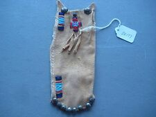 NORTHERN PLAINS BEADED  MEDICINE POUCH, NATIVE AMERICAN BEADED BAG, #CO-00177