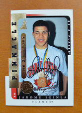 1996-97 Pinnacle Be A Player Jarome Iginla Link 2 History Die-Cut Auto Card
