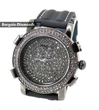 mens gunmetal black CZ ice out case CZ dial hip hop bling dress watch clubbing