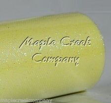 YELLOW Glitter Tulle Roll 6in x 30ft Sparkling Tulle (10 yards)