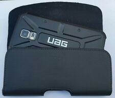 FOR SAMSUNG GALAXY NOTE 2 BELT CLIP LEATHER HOLSTER FITS A UAG HYBRID CASE ON