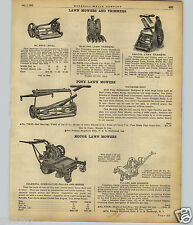 1922 PAPER AD Coldwell Motor Lawn Mower Richmond Golf Course Pony Horse Pull