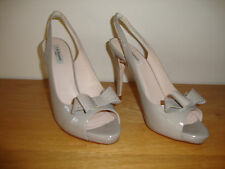 "LK Bennett ""Pacific"" Shoes In Clay Patent Size UK 8 / 9 - EU 42"