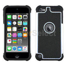 Hybrid Rugged Rubber Matte Hard Case Cover Skin for Apple iPod Touch 6 6th White