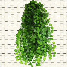 Artificial Plastic Begonia Leaf Garland Plant Vine Foliage Flower Home Decor LD
