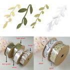 2016 Vintage Satin Leaf Leaves Vine Garlands Ribbon Sew On Lace Trim Bridal