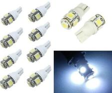 10x T10 5050 SMD 5-LED 194 168 W5W 360° Wedge Bulb XENON WHITE Car Tail light WK