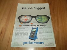 PETERSON VS 1 GUITAR TUNER-2002 original advert
