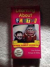 Wiser Family Learning About Faith Puppets Live Action On Screen Vol. 3(NEW VHS)