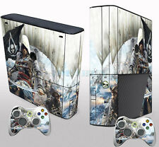 Cool Man Custom Sticker Decals Cover for Xbox 360 E Console & 2 Controller Skin