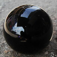 New NATURAL OBSIDIAN POLISHED BLACK CRYSTAL SPHERE BALL 60MM +STAND GIFT