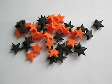 100 Edible Sugar paste HALLOWEEN MIX STARS Cupcake Toppers /decorations