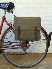 Vintage OD Green Military Surplus Style Messenger Bag Bicycle Pannier