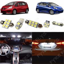 6x White LED lights interior package kit for 2009-2013 Honda Fit HF1W