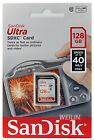 Genuine SANDISK ULTRA 128GB SD SDXC Memory Card Class 10 UHS-I 40MB/s 200X 128G