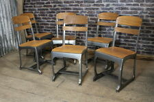 GUN METAL ETON RETRO VINTAGE INDUSTRIAL STYLE SEATING RESTAURANT CAFE CHAIRS