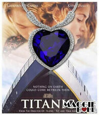 New Fashion Large Necklace white Plated Heart of OCEAN Titanic Blue with Crystal