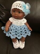 "Berenguer 5"" Baby Doll Clothes-HAND Crocheted"