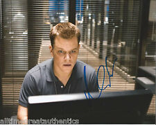 ACTOR MATT DAMON HAND SIGNED AUTHENTIC 'THE BOURNE IDENTITY' 8X10 PHOTO B w/COA