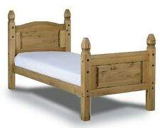 Mercers Furniture Corona Mexican Pine 3ft Single High Foot End Bed Frame