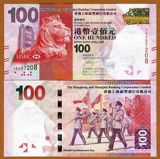 Hong Kong, $100, 2014, HSBC, P-214d, UNC   Lion