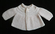 Baby clothes GIRL 0-3m pink handmade knitted patterned soft cardigan SEE SHOP!