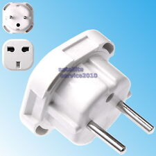 Adattatore Spina da Presa Inglese a Italiana Travel Adapter Europe Italy Bianco